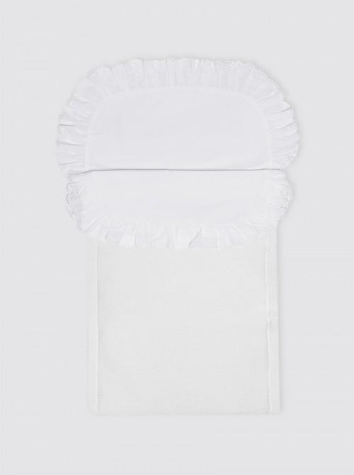 Saco de Punto Invierno Blanco con Sábana con Guata Extraíble - Capazo