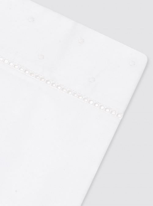 Juego Sábanas Bodoques Blancos Cama - 80x130cm