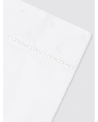 Funda de Almohada Bodoques Blancos - 45x110 cm