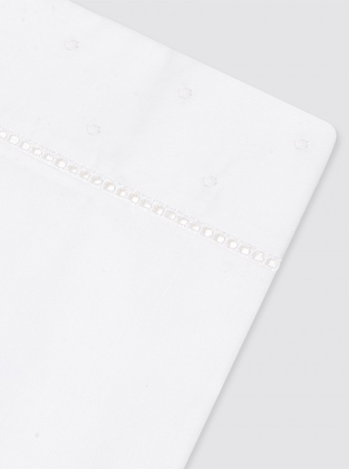 """Juego Sábanas """"Sobre"""" Bodoques Blancos Cama - 80x165cm"""