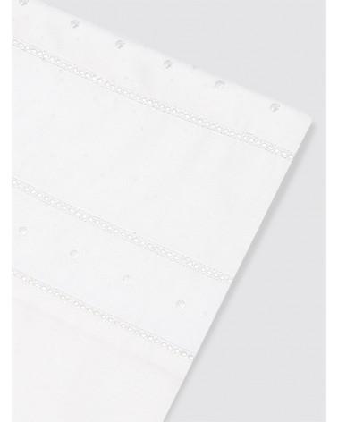 Funda Nórdica Doble Vainica y Bodoques Blancos Cama - 80x165 cm
