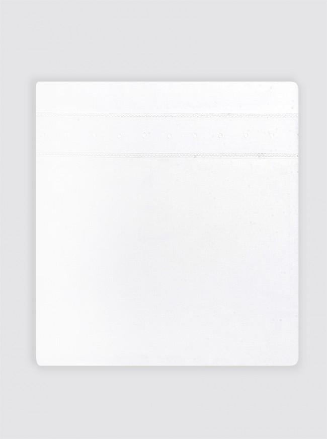Juego Sábanas Doble Vainica y Bodoques Blancos Cama - 80x165cm
