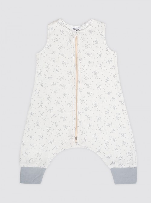 Pijama Burbuja Florecitas Grises