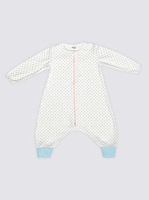 Pijama Burbuja con Mangas Tulipanes Celestes