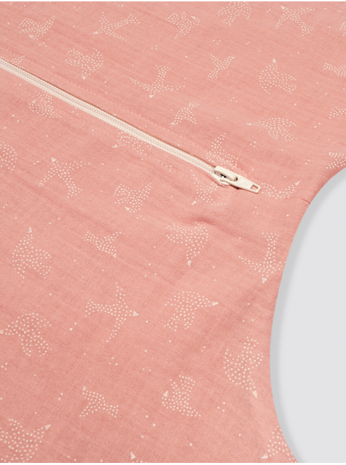 Pijama Burbuja Bambula Pájaros Rosa