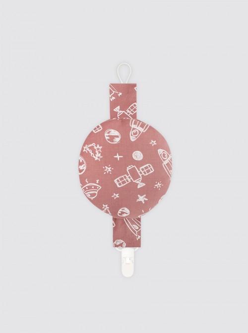 Chupetero con Bolsillo Espacio Rosa