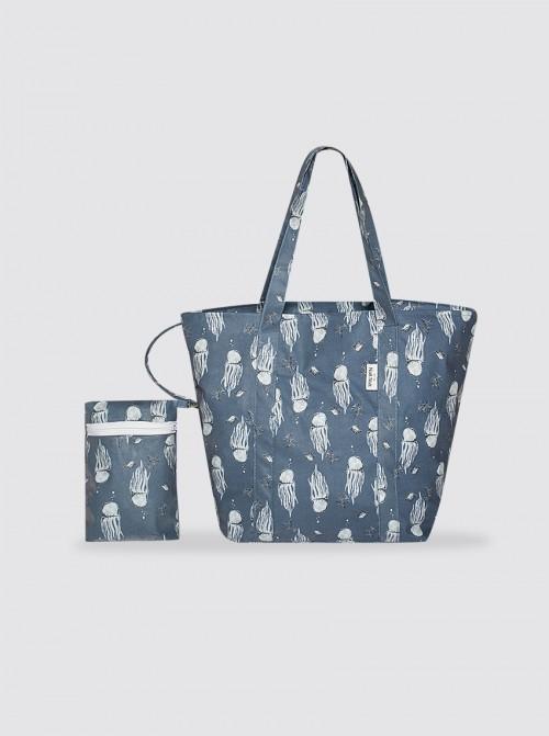 Bolsa de Playa Grande Medusas Azul