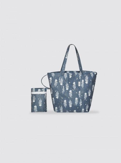 Bolsa de Playa Pequeña Medusas Azul