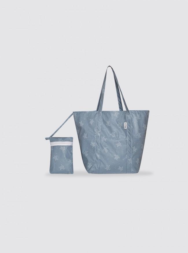 Bolsa de Playa Pequeña Tortugas Azul