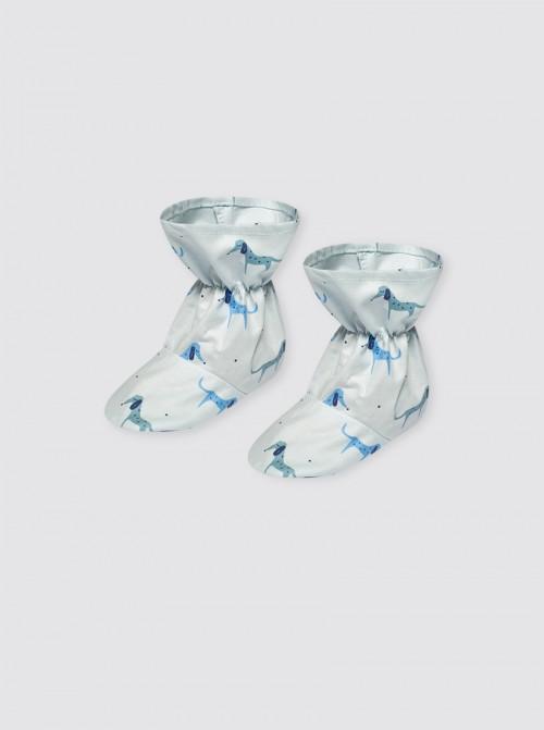 Escarpines Perritos Azul
