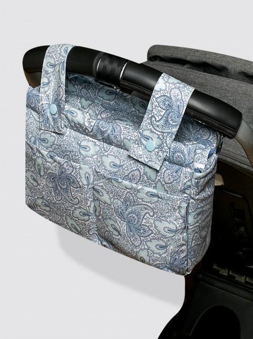 Bolsa de Carro Pequeña Impermeable Cachemir Celeste