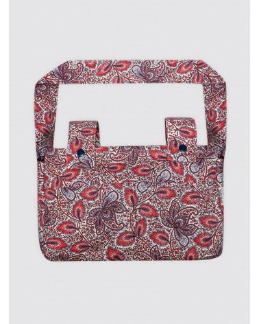 Bolsa de Carro Pequeña Impermeable Cachemir Rojo y Azul