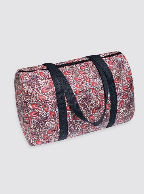 Bolsa de Viaje Impermeable Cachemir Rojo y Azul