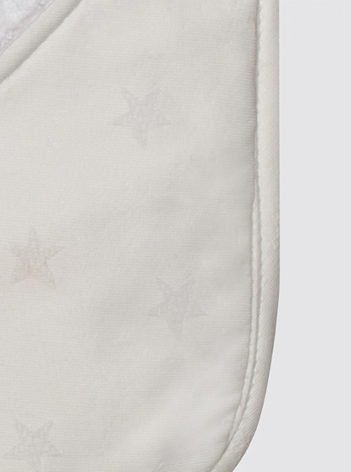 Toalla Baño Bebé Estrellas Blancas Piqué