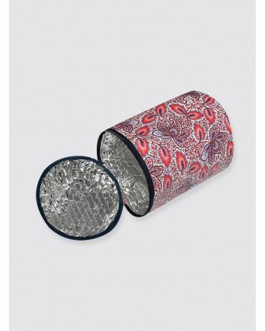 Bolsa Térmica Impermeable Cachemir Rojo y Azul