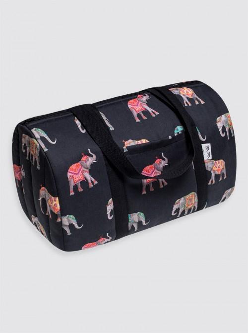 Bolsa de Viaje Elefantes Negro