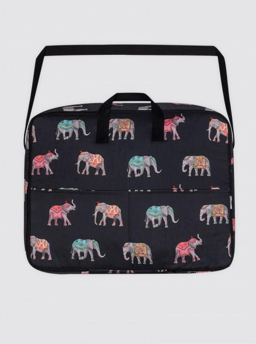 Bolsa Maternal Elefantes Negro
