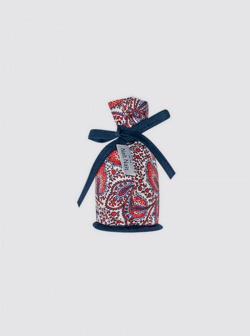 Portachupetes Cachemir Rojo y Azul