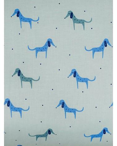 Chupetero con Bolsillo Perritos Azules
