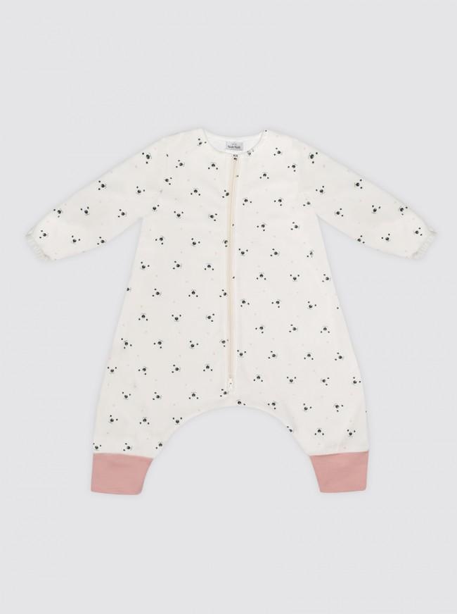 Pijama Burbuja Con Mangas Osos Puntos Rosas