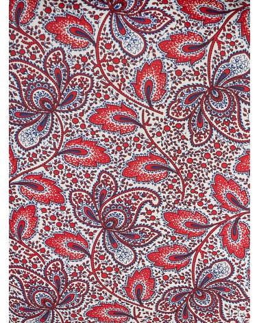 Bolsa Cepillo de Dientes Cachemir Rojo y Azul