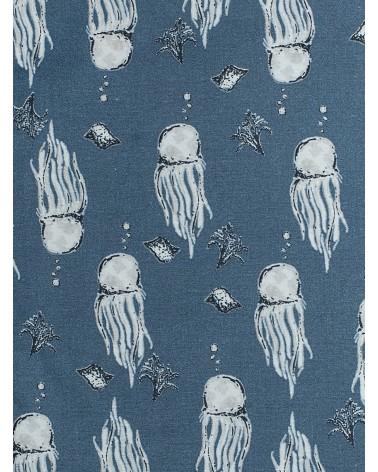 Bolsa para Mascarilla Medusas Azul