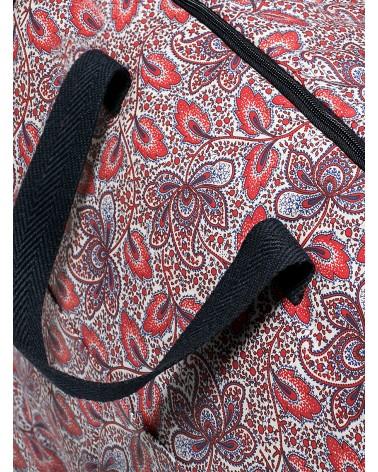 Bolsa Maternal Impermeable Cachemir Rojo y Azul