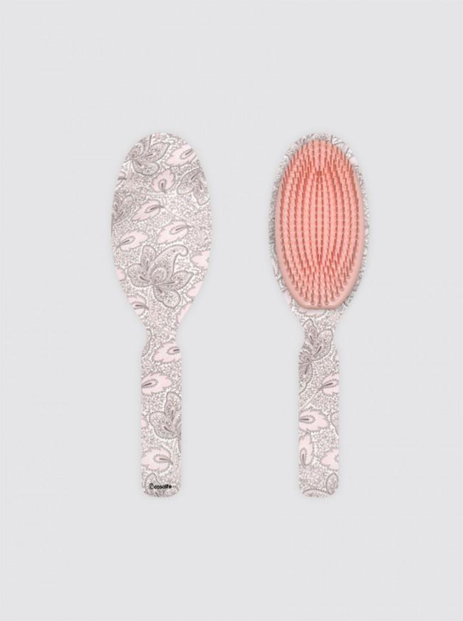 Cepillo Oval Grande Cachemir Rosa y Gris