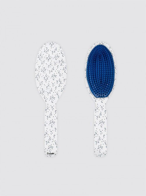 Cepillo Oval Grande Burbujas Azul