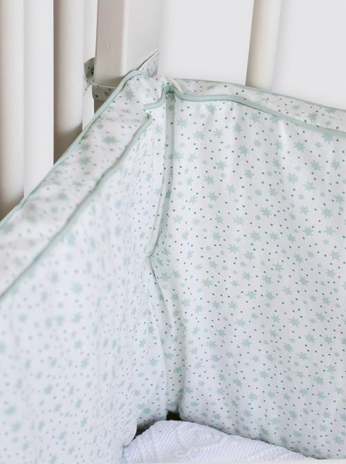 Chichonera Estrellas Verdes Brilli