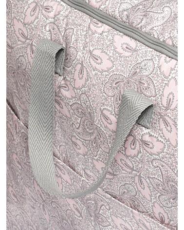 Bolsa Maternal Impermeable Cachemir Rosa y Gris