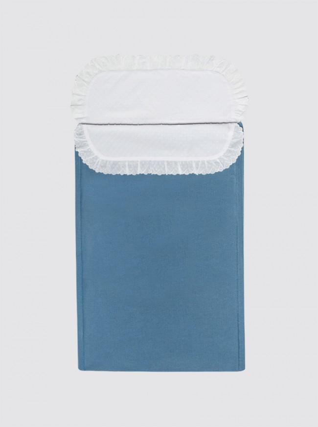 Saco de Punto Invierno Azulón con Sábana - Minicuna