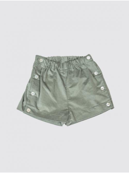 Pantalón Corto Pana Verde