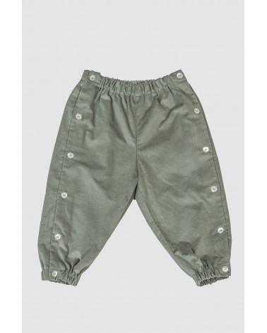 Pantalón Largo Pana Verde