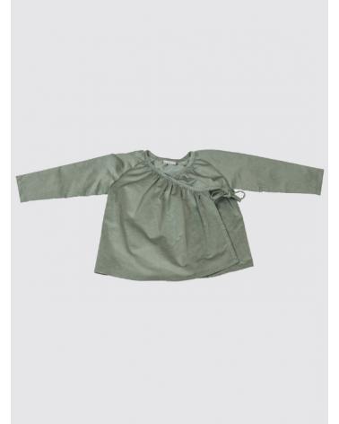 Camisa Cruzada de Pana Verde