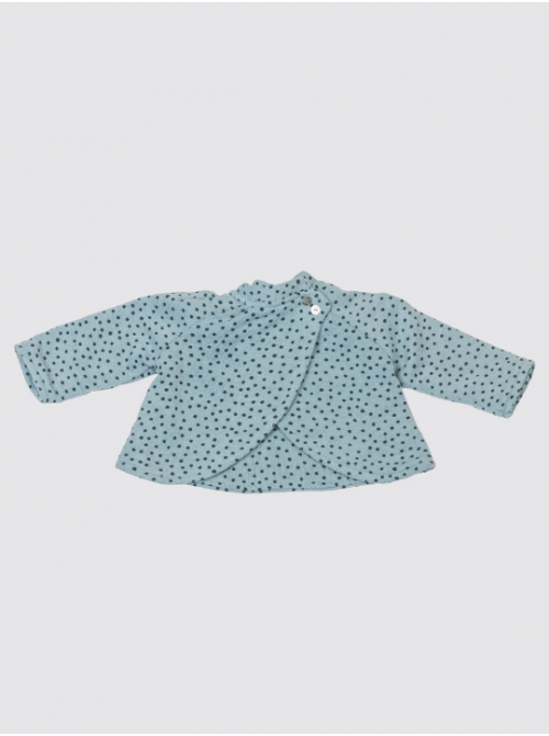 Abrigo de Punto Verde Cuello Bebé