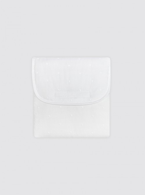 Cambiador Con Bolsillos Bodoques Blancos