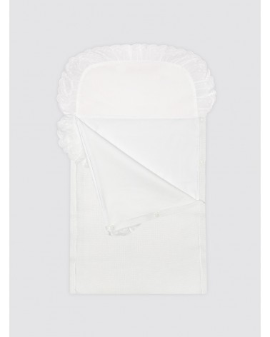 Saco de algodón con sábana blanco