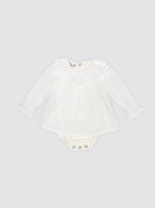 Body con camisa Blanca