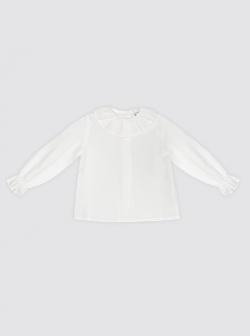 Camisa Blanca Cuello de Bebé