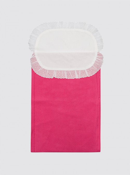 Saco de algodón con sábana rosa fucsia