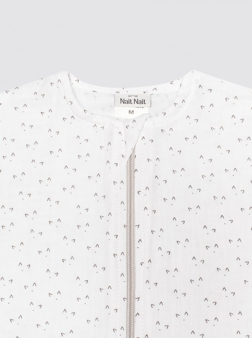 Pijama Burbuja Bambula Miau Blanco