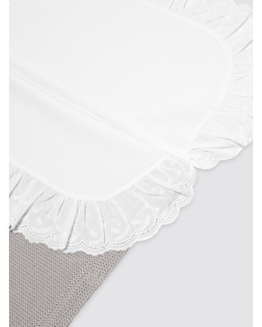 Saco de algodón con sábana gris
