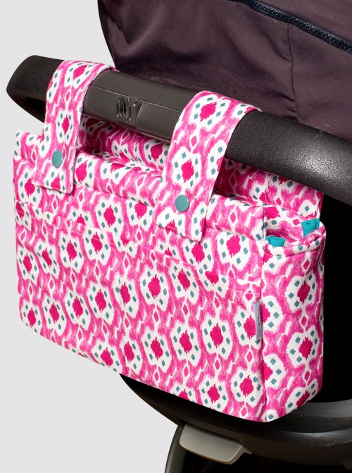 Bolsa de Carro Pequeña Ikats Rosa