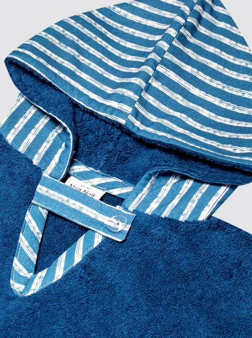 Poncho Playa Rayas Azul