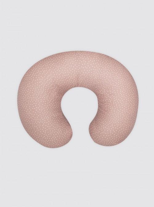 Funda Cojín Lactancia Rosa Maquillaje Puntos Blancos