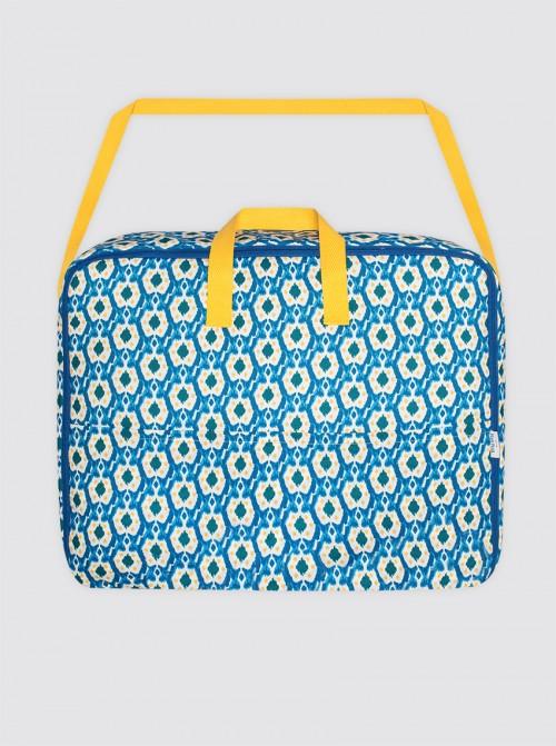 Bolsa Maternal Ikats Azul