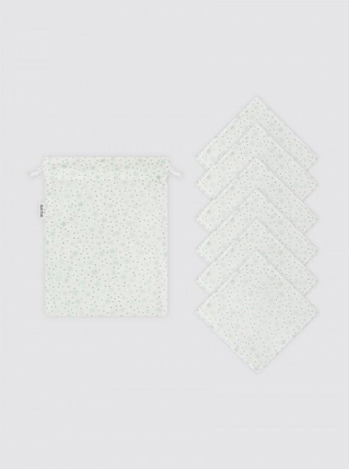 Toallitas Higiénicas 6 unidades + Bolsa de Mascarilla- Estrellas Brilli Verdes