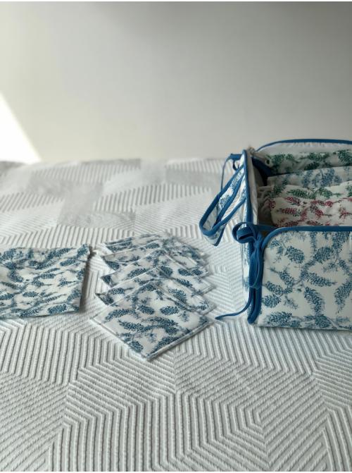 Toallitas Higiénicas 6 unidades + Bolsa de Mascarilla- Brezos Azul