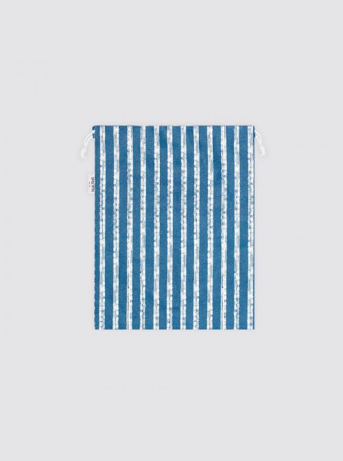 Bolsa para Mascarilla Rayas Playa Azul